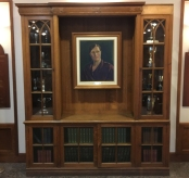 The study entrance cabinet